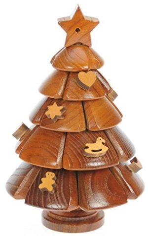 Albero Di Natale Puzzle Legno 3d Rompicapo Adulti Bambini Idea Del Regalo Di Natale O Di Compleanno Dimensioni 20 X 13 Cm 0