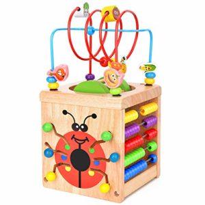 Battop Cubo Di Attivit Giochi Legno Bambini 6 In 1 Cubo Da Gioco Multifunzione Labirinto Di Perle Giocattolo Educativi Bambini Regali Di Natale Compleanno 0
