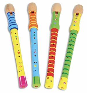 Bontempi 31 3010 Flauto In Legno Colori E Disegni Assortiti 0