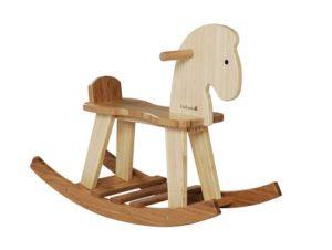 Everearth Ee33559 Cavallo A Dondolo Bambu 0