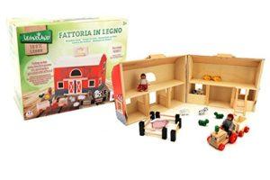 Globo Giocattoli Globo 37443 Legnoland Farm House Con Maniglia Pezzi 0