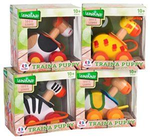 Globo Giocattoli Globo 37599 4 Assortiti Legnoland Trainabile In Legno Animali 0