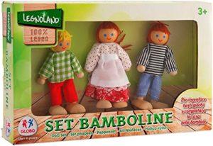 Globo Globo 37346 2 Assortiti Legnoland Giocattoli Di Legno Family Dolls Pezzi 0