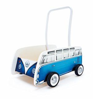 Hape Carrellino In Stile Pulmino Volkswagen Colore Blu E0381 0