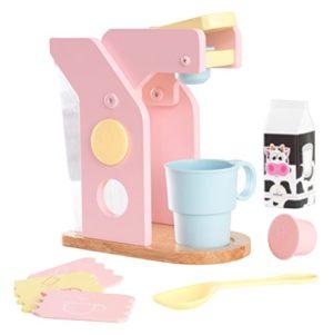 Kidkraft 63380 Set Giocattolo Di Caff In Legno Per Bambini Giochi Di Imitazione Con Accessori Inclusi Colori Pastello 0