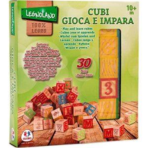 Legnoland 37843 Cubi Legno 30pezzi Cubo 3x3 Cm 0