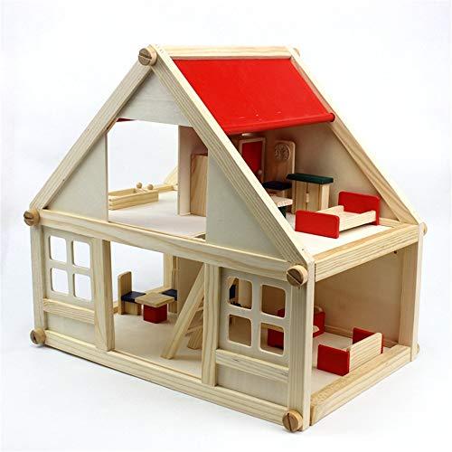 Maybesky Giocattolo Educativo Play House Serie Mini Simulation Scene Assemblaggio House House Educazione Precoce Per Bambini Educational Wooden Assemble Toys Regalo Di Compleanno Per Ragazze 0