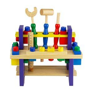 Nuheby Kit Attrezzi Per Bambini 42 Pcs Strumenti Legno Giochi Per Bambini Giochi Educativi Giochi In Legno Giochi Di Ruolo Giochi Imitazione Per Bambini 3456 Anni 0