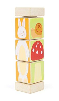 Small Foot Torre Da Girare In Legno Colorato Con Motivi Di Animali 10647 0