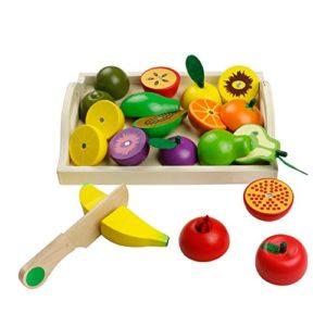 /Finta Play Grocery Shop/ /Piccolo Cassetta per Frutta Erzi Giochi con Il Cibo in Legno/