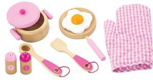 Viga Nct 1060 Set Di Accessori Da Cucina In Legno Rosa 0