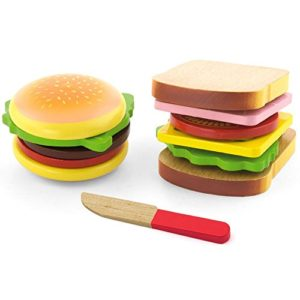 Viga Wooden Hamburger E Sandwich Set 0