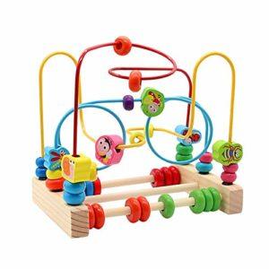 Yoptote Giochi Di Bead Maze In Legno Giochi Educativi Roller Coaster Animale Puzzle Giocattoli Con 40 Pezzi Beads Per Bambini 3 4 5 6 Anni 0