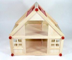 Freda Casa Delle Bambole In Legno Con 2 Piani Maniglia Di Trasporto 40x25x38cm Art Gf2153b 0