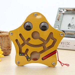Funnygoo Mini Penna Guida Labirinto Di Perline Labirinto Di Perline In Legno Per Bambini Da 3 Anni In Su Perfetto Regalo Di Natale Di Natale Stella 0