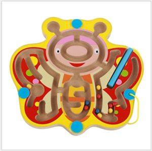 Funnygoo Mini Penna Guida Labirinto Di Perline In Legno Labirinto Di Per Bambini 3 Anni E Fino Perfetto Natale Regalo Di Natale Farfalla 0