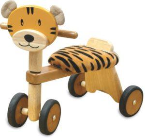 Im Toy 80006 Triciclo In Legno Cavalcabile Per Bambini Tigre 0