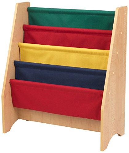 Kidkraft 14226 Libreria In Legno E Tessuto Mobili Per Camera Da Letto E Sala Giochi Per Bambini Con 4 Tasche Portaoggetti Colori Primari 0