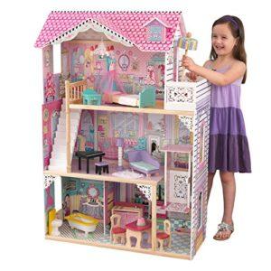 Kidkraft 65079 Casa Delle Bambole In Legno Annabelle Per Bambole Di 30 Cm Con 17 Accessori Inclusi E 3 Livelli Di Gioco 0