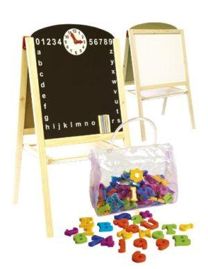 Leomark Lavagna Per Bambini Multiattivit Lavagna Per Dipingere Lavagna Magnetica In Legno Compresi Accessori Oltre 100 Pezzi Giocattoli Educativi Regolabile Gesso Colorato Gesso Colorato Orologio Nume 0