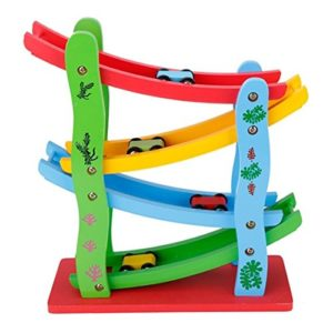Lewo Click Clack Pista In Legno Per Macchinine Gioco In Legno Per Bambini Da 3 Anni Di Et 0