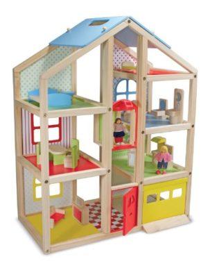 Melissa Doug 12462 Casa In Legno Per Bambole A Pi Piani 0