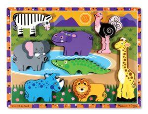 Melissa Doug 13722 Puzzle In Legno Massiccio Animali Da Safari 0