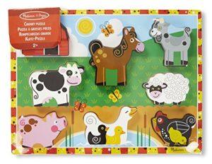 Melissa Doug 13723 Puzzle In Legno Massiccio Animali Da Fattoria 0