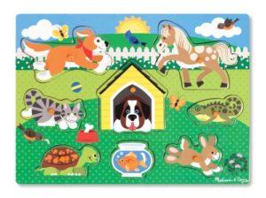 Melissa Doug 19053 Peg Puzzle In Legno Animali Da Compagnia 0