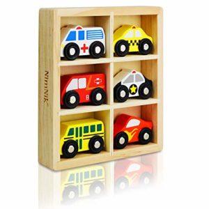 Nimnik Giocattoli Automobili Bus Veicoli Motore Di Emergenza Giocattolo Di Legno Educativo Per Early Learning Da 2 Anni Olds 0