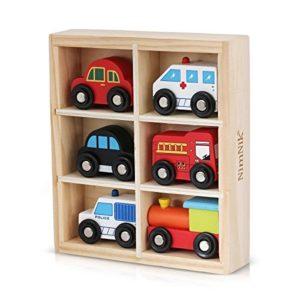 Nimnik Giocattoli Automobili Bus Veicoli Motore Di Emergenza Giocattolo Di Legno Educativo Per Early Learning Da 3 Anni Olds 0