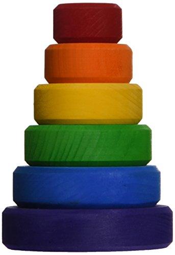 Rainbow Color Cone Building Block Japan Import 0