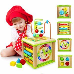 Titiyogo Giochi Legno Bambin Centri Attivit Cubi Legno Giocattoli Bambino 1 Anno 0