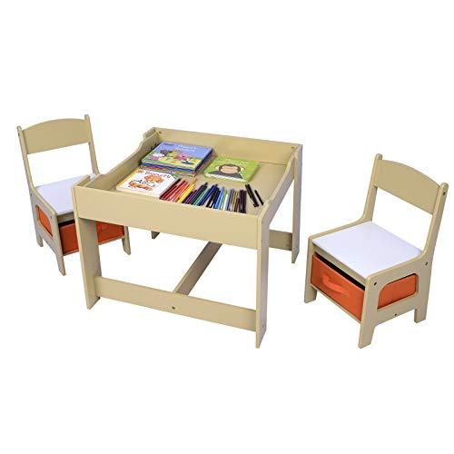 Tavolo In Legno Per Bambini Con Sedie.Tavolino Contenitore E Lavagna Con 2 Sedie In Legno Giochi In Legno
