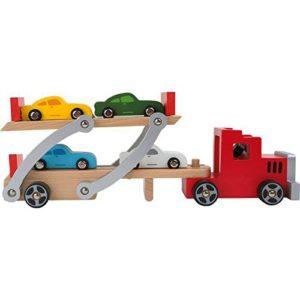 Small Foot Company 4222 Camioncino Trasporta Auto Incl 4 Macchinine In Legno 0