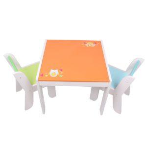 Labebe Mobili Bambini Di Tavolo Bambino Di Gufo Arancione Set Tavolino Bambino Legno Per 1 5 Anni Tavolino Legno Bambinotavolo Gioco Bambinotavolino Multiattivita Legnotavolino Gioco Bambino 0