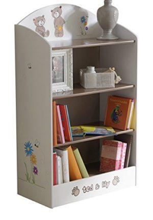 13casa Teddy D1 Libreria Bimbo Dim 60x30x100 H Cm Col Bianco Rovere Mat Mdf 0