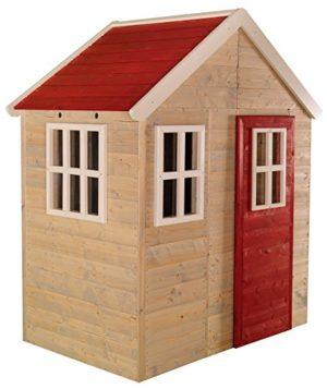 Casetta Per Bambini In Legno Per Esterno Bambini Giardino Tipo Chiuso Casa Con Finestre E Porte 0
