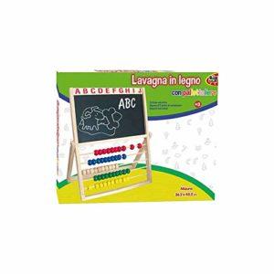 Grandi Giochitrade Lavagna Disegno Bambini Con Pallottoliere Abaco Colorato In Legno Grandi Giochi 0