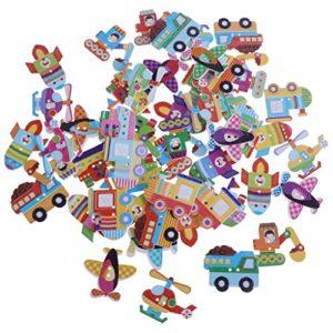 Homyl 50 Pezzi Bottoni In Legno Elicottero Da Cucire Per Abiti Vestiti Di Bambini Trasporto 0