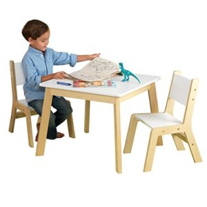 Kidkraft 27025 Set Tavolo Con 2 Sedie Moderni In Legno Mobili Per Camera Da Letto E Sala Giochi Per Bambini Bianco 0