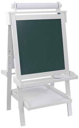 Kidkraft 62040 Cavalletto Artistico In Legno Per Bambini Con Rotolo Di Carta E 2 Contenitori Per Vernice Inclusi Colore Bianco 0
