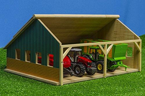 Kids Globe 610047 Hangar In Legno Per Trattori Scala 150 0