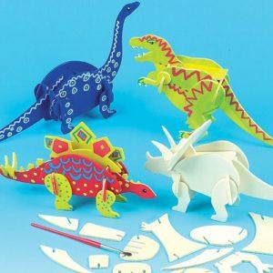 Kit Crea Dinosauri Di Legno Per Bambini Da Creare Personalizzare Ed Esporre Come Idea Creativa Confezione Da 5 0