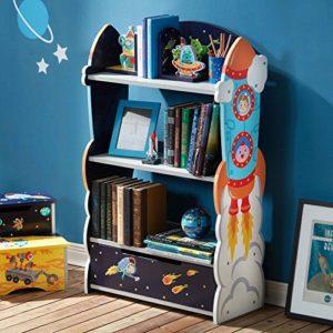 Libreria Scaffale Legno Bambini Fantasy Fields Outer Space Td 12220a 0
