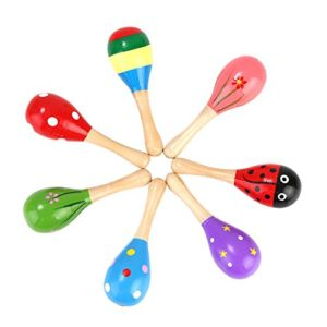 Newin Star Maracas Mini Maracas Sonaglio Maracas Giocattoli Musicali In Legno Per Bambini Piccoli 1pc Colore Casuale 0