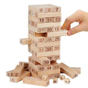Nimnik Games Tumbling Tower Il Classico Gioco Della Torre La Torre Che Crolla Gioco Divertente Per Bambini 54 Pezzi Idea Regalo 0