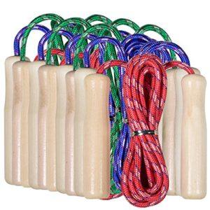 Partituki Pack Di 10 Corde Per Saltare Corde Per Saltare Con Manico In Legno Ideale Per Giochi Allaperto E Regali Di Compleanno Per Bambini 0
