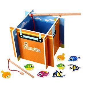 Peradix Gioco Pesca Magnetica Legno Giocattolo Intelligente 0