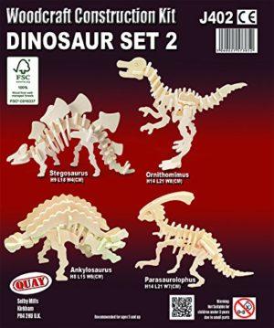 Quay Set Di Dinosauro 2 Woodcraft Kit Di Costruzione Fsc 0 0